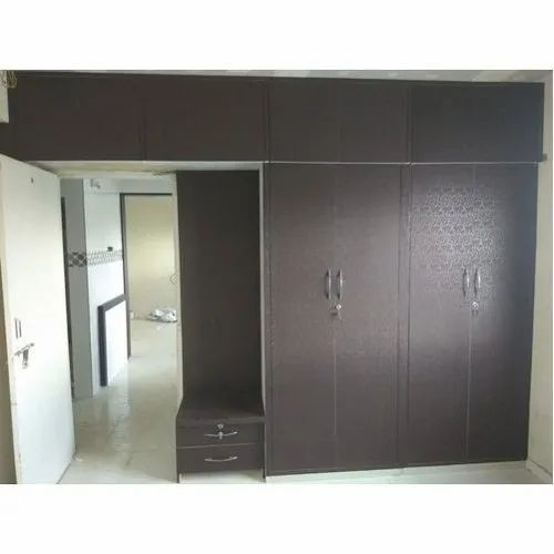 Brown Double Door Wooden Wardrobe