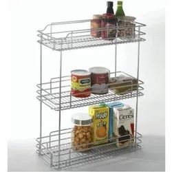 SS Pull Out Kitchen Basket