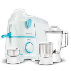 500 W White Havells Rigo3jaar Juicer Mixer Grinder, Warranty: 2 Years, Capacity: 3 Jars