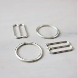Silver Zinc Alloy Bra Hook/ Bra Ring, Packaging Type: Box