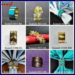 Custom Metal Wire Wood Resin Glass Napkin Rings Holder