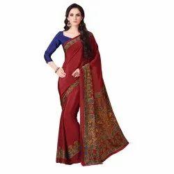Crepe Silk Printed Saree