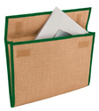 Onego Jute File Folder With Velcro Closure For Office, Paper Size: A4