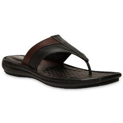 Leather Casual Men Bata Slipper, Size: 6-10 Uk