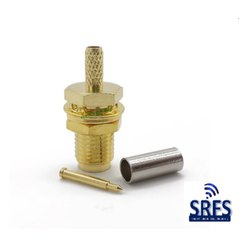 SMA Female Bulkhead Crimp Connector for RG 316 Cable