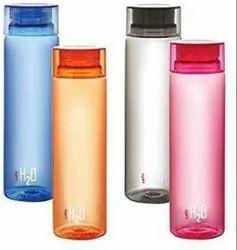 Plastic Blue White Orange Pink Cello Water Bottle H2o 1000 mL