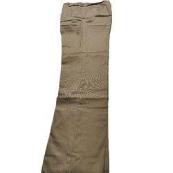 Men's Cotton Brown Plain Pants, Size: 28-38