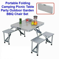 Aluminum Folding Tables And Chairs For Outdoor Dining Porta
