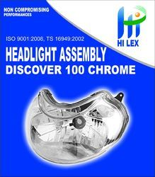 Hilex Discover 100-Chorme Head Light Assembly