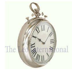 Tier shape nickel finish Metal Clock