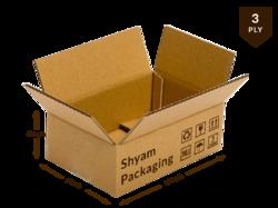 Corrugated Box - 3 ply (14L X 9W X 6H Inch)