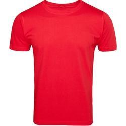Logo Half Sleeve Cotton Round Neck T Shirt