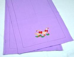 Table Runner with Duck Embroidery
