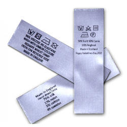 Front and Back Printed Satin Labels