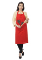 Solid Cotton Kitchen Apron