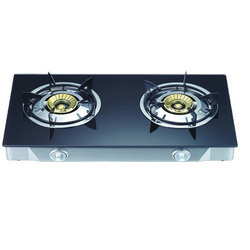 Black Two Burner Gas Stove
