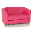 Pink Leather Sofa Series