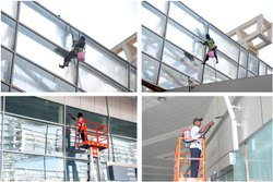 Building Glass Elevation Cleaning