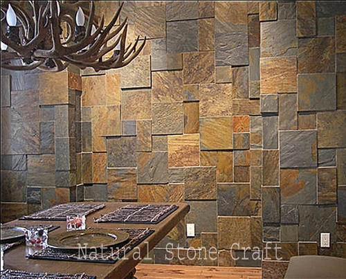 Wonderful Natural Stone Designer Interior Wall Tiles, Thickness: 12   14 Mm