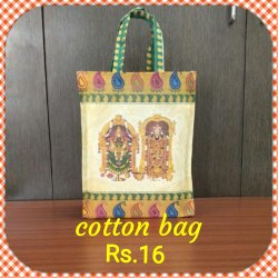 Handled Shopping Cotton Bags, Capacity: 15 kg