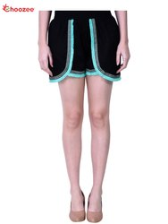 Choozee Black Gorgy Women Shorts