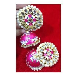 d1386d8f9f59d Kundan Meena Earring - Hand Painted Meena Earrings Manufacturer from ...