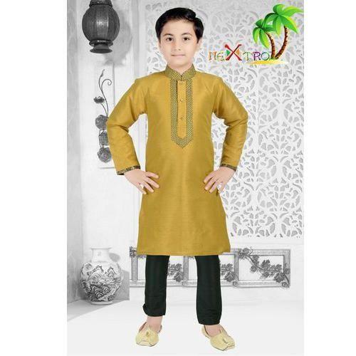 1e68f6108 Boys Gold Kids Full Sleeve Kurta Pajama, Rs 695 /set, Daksha ...