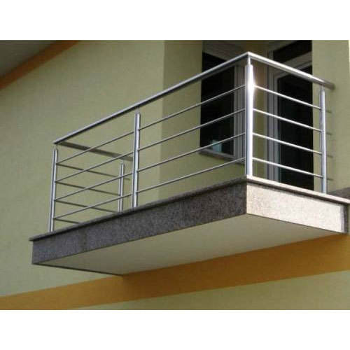 Stainless Steel Silver Coated Outdoor Railing