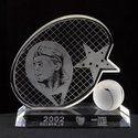 Tennis Cup Crystal Trophy