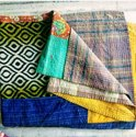 Patch Worked Vintage Kantha Quilt