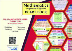 Mathematics Topicwise / Chapterwise Charts For SSC (Maharashtra Board) Class 10th -Perfect Gifts For