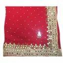 Ladies Wedding Saree Mirror Work Sultan