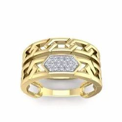 Perrian Round 0.08Ct Prong Set Natural Diamond Wedding Ring In 18K Yellow Gold