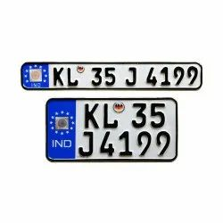 Aluminium White And Black Bike Number Plate Design Rs 399 Set Id 20965061930