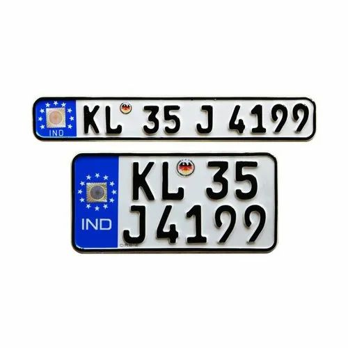 Aluminium White And Black Bike Number Plate Design Rs 399 Set