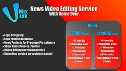 1Month 1080p News Video Editing Software & Service, Pan India