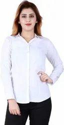 White Corporate Shirt For Girls
