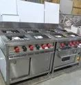 4 Burner Range With Electric Oven And Under Shelfs