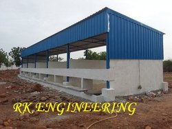 Steel Structure Cattle Arena Shed