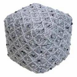 Handmade Pet Material Modern Design Grey Color Pouf