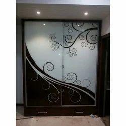 White, Brown Glass Door