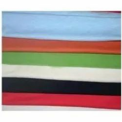 Plain 35-36 Polyester Cotton Single Jersey Fabric, For Garments, GSM: 150-200 GSM