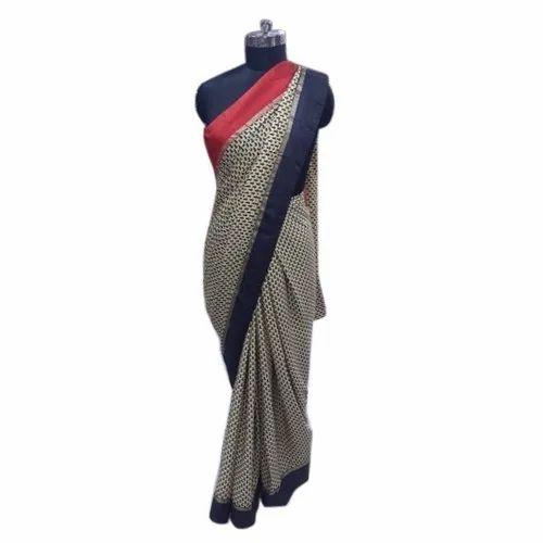 Ladies Printed Italian Silk Saree