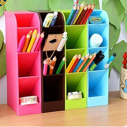 Multipurpose 4 Sections Table Desk Organizer Pen Holder 4 Sections, Size: 3.6 x 2 x 8.10 Inch