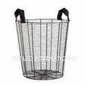 Decorative Iron Wire Storage Basket With Handles