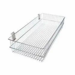Stainless Steel Wiremesh Basket, Matt / Mirror, Size: 24x15x4 Inch