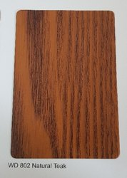 WD 802 Natural Teak Wooden ACP Sheets