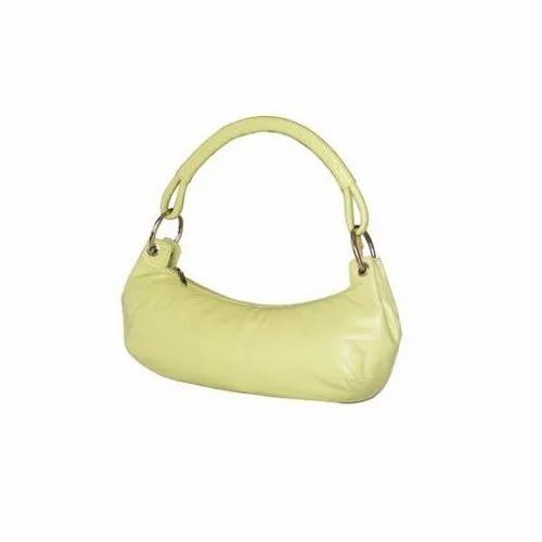 Party Wear Plain Leather Lady Handbag