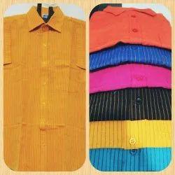 Male Strips Cotton Shirts