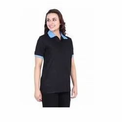 UB-D-Tee-12 Black & Blue Polo T-Shirt For Female